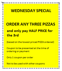 Discount Coupons Wednesday